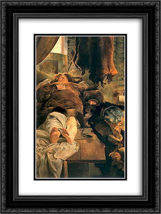 Elle death 18x24 Black or Gold Ornate Framed and Double Matted Art Print by Jacek Malczewski