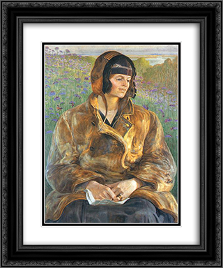 Ellenai 20x24 Black or Gold Ornate Framed and Double Matted Art Print by Jacek Malczewski