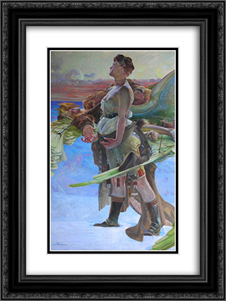 Eloe 18x24 Black or Gold Ornate Framed and Double Matted Art Print by Jacek Malczewski