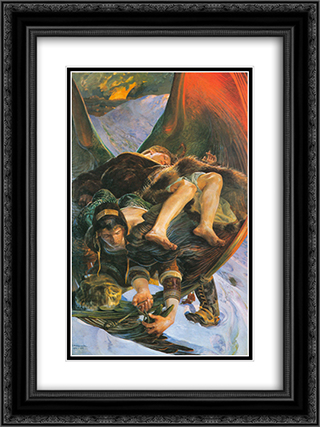 Eloe from Ellenai 18x24 Black or Gold Ornate Framed and Double Matted Art Print by Jacek Malczewski