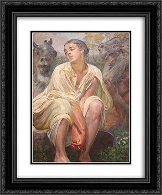 Enslavement 20x24 Black or Gold Ornate Framed and Double Matted Art Print by Jacek Malczewski