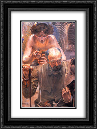 Finis Poloniae 18x24 Black or Gold Ornate Framed and Double Matted Art Print by Jacek Malczewski