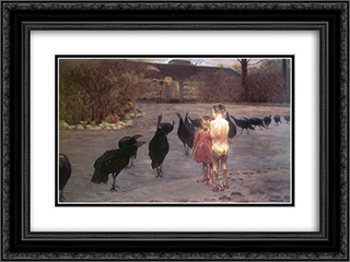 Idyll 24x18 Black or Gold Ornate Framed and Double Matted Art Print by Jacek Malczewski