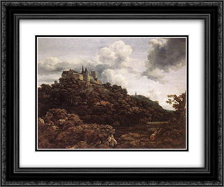 Bentheim Castle 24x20 Black or Gold Ornate Framed and Double Matted Art Print by Jacob Isaakszoon van Ruisdael
