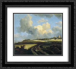 Road through Corn Fields near the Zuider Zee 22x20 Black or Gold Ornate Framed and Double Matted Art Print by Jacob Isaakszoon van Ruisdael
