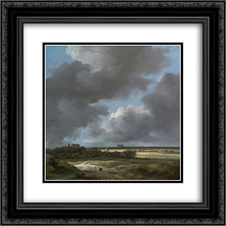 View of Alkmaar 20x20 Black or Gold Ornate Framed and Double Matted Art Print by Jacob Isaakszoon van Ruisdael