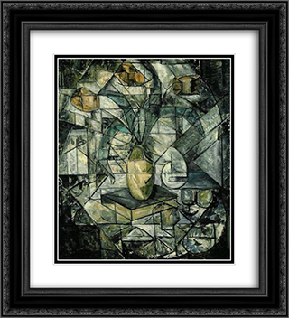 18 Compositie Opus 1 20x22 Black or Gold Ornate Framed and Double Matted Art Print by Jacoba van Heemskerck