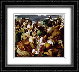 The Road to Calvary 22x20 Black or Gold Ornate Framed and Double Matted Art Print by Jacopo Bassano