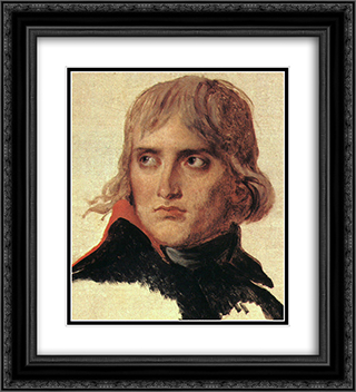 Bonaparte 20x22 Black or Gold Ornate Framed and Double Matted Art Print by Jacques Louis David