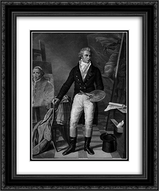 Jacques Louis David In his workshop 20x24 Black or Gold Ornate Framed and Double Matted Art Print by Jacques Louis David