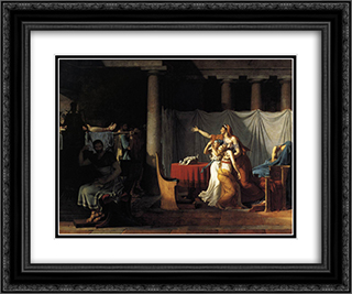 Lictors Bearing to Brutus the Bodies of his Sons 24x20 Black or Gold Ornate Framed and Double Matted Art Print by Jacques Louis David