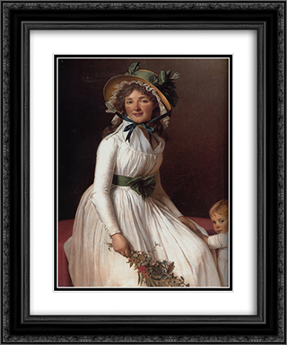 Madame Pierre Seriziat (nee Emilie Pecoul) with her Son, Emile 20x24 Black or Gold Ornate Framed and Double Matted Art Print by Jacques Louis David