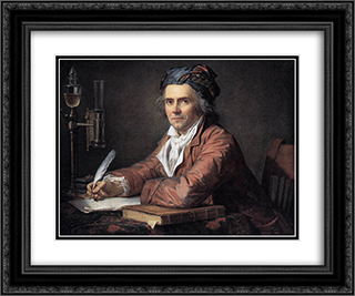 Portrait of Alphonse Leroy 24x20 Black or Gold Ornate Framed and Double Matted Art Print by Jacques Louis David