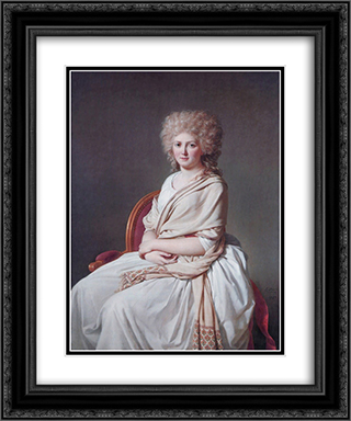 Portrait of Anne Marie Louise Thelusson, Countess of Sorcy 20x24 Black or Gold Ornate Framed and Double Matted Art Print by Jacques Louis David