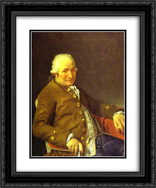 Portrait of Charles-Pierre Pecoul 20x24 Black or Gold Ornate Framed and Double Matted Art Print by Jacques Louis David