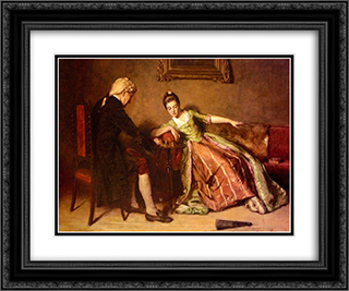 A Game Of Chess 24x20 Black or Gold Ornate Framed and Double Matted Art Print by James Hamilton