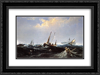 After the Storm on the Coast of Newfoundland 24x18 Black or Gold Ornate Framed and Double Matted Art Print by James Hamilton