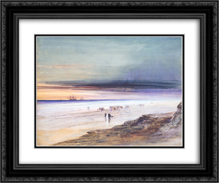Beach Scene 24x20 Black or Gold Ornate Framed and Double Matted Art Print by James Hamilton