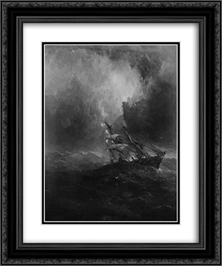 Foundering 20x24 Black or Gold Ornate Framed and Double Matted Art Print by James Hamilton