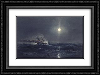 Marine 24x18 Black or Gold Ornate Framed and Double Matted Art Print by James Hamilton
