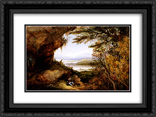 Scene on the Hudson (Rip Van Winkle) 24x18 Black or Gold Ornate Framed and Double Matted Art Print by James Hamilton
