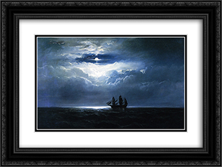 The Convict Ship T.K. Hervey 24x18 Black or Gold Ornate Framed and Double Matted Art Print by James Hamilton