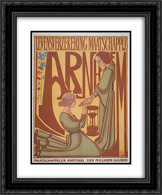 Arnhem Life Insurance Company 20x24 Black or Gold Ornate Framed and Double Matted Art Print by Jan Toorop