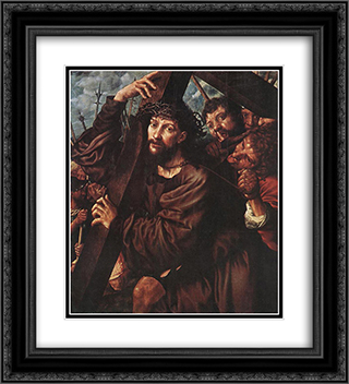 Christ Carrying The Cross 20x22 Black or Gold Ornate Framed and Double Matted Art Print by Jan van Hemessen