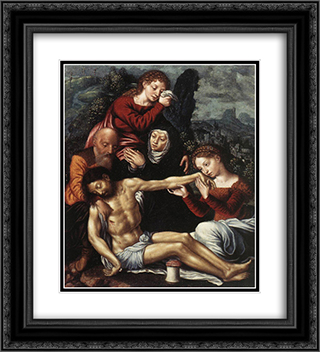 The Lamentation of Christ 20x22 Black or Gold Ornate Framed and Double Matted Art Print by Jan van Hemessen
