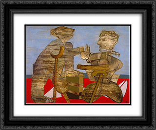 The Mutilated 24x20 Black or Gold Ornate Framed and Double Matted Art Print by Jankel Adler
