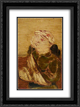 Wounded 18x24 Black or Gold Ornate Framed and Double Matted Art Print by Jankel Adler