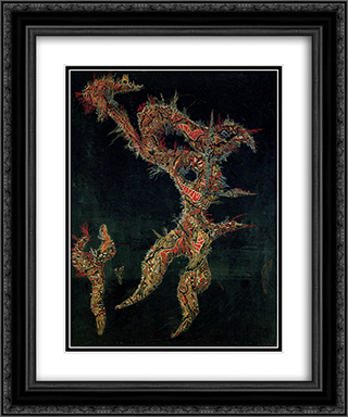 Dissection d'un paysage 20x24 Black or Gold Ornate Framed and Double Matted Art Print by Jaroslav Serpan