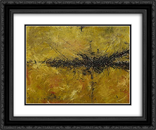 Jieonzu 24x20 Black or Gold Ornate Framed and Double Matted Art Print by Jaroslav Serpan
