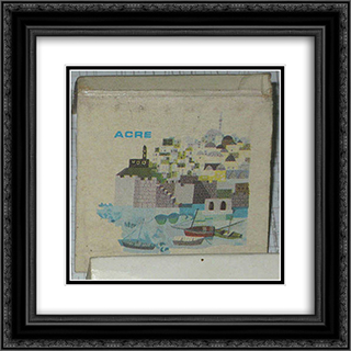 Acre (Match Box) 20x20 Black or Gold Ornate Framed and Double Matted Art Print by Jean David