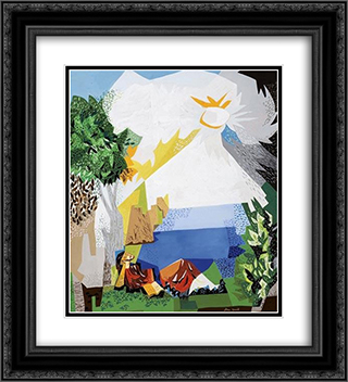 Jacob's Dream 20x22 Black or Gold Ornate Framed and Double Matted Art Print by Jean David