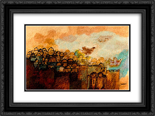 Jerusalem of Gold 24x18 Black or Gold Ornate Framed and Double Matted Art Print by Jean David