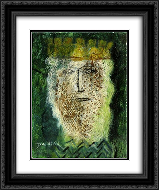 King David 20x24 Black or Gold Ornate Framed and Double Matted Art Print by Jean David