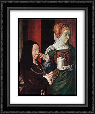 Madeleine of Bourgogne presented by St. Mary Magdalene 20x24 Black or Gold Ornate Framed and Double Matted Art Print by Jean Hey