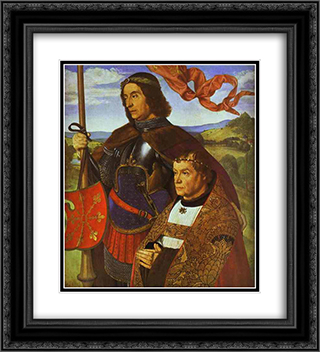 Portrait of Francis de Chateaubriand 20x22 Black or Gold Ornate Framed and Double Matted Art Print by Jean Hey