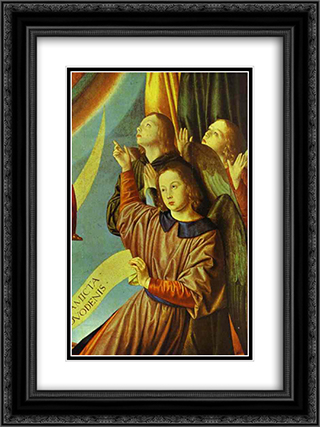 Portrait of Margaret of Austria (Portrait of a Young Princess) 18x24 Black or Gold Ornate Framed and Double Matted Art Print by Jean Hey