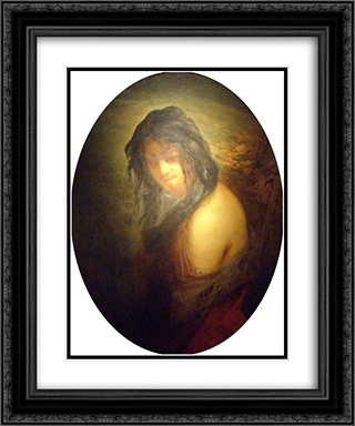 Catherine Lemaire 20x24 Black or Gold Ornate Framed and Double Matted Art Print by Jean Francois Millet
