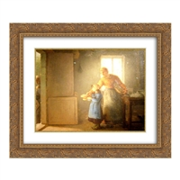 Charity 22x20 Black or Gold Ornate Framed and Double Matted Art Print by Jean Francois Millet