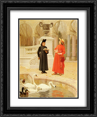 A Plate Of Cakes 20x24 Black or Gold Ornate Framed and Double Matted Art Print by Jehan Georges Vibert