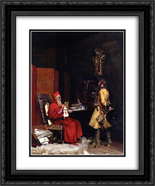 A state secret 20x24 Black or Gold Ornate Framed and Double Matted Art Print by Jehan Georges Vibert