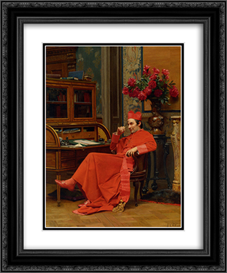 Eureka 20x24 Black or Gold Ornate Framed and Double Matted Art Print by Jehan Georges Vibert