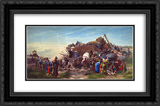 Gulliver 24x16 Black or Gold Ornate Framed and Double Matted Art Print by Jehan Georges Vibert