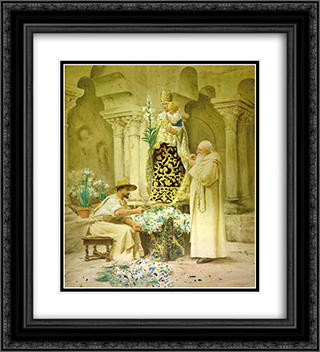Preparations for the Procession 20x22 Black or Gold Ornate Framed and Double Matted Art Print by Jehan Georges Vibert