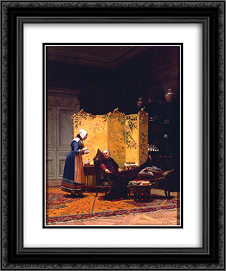Tea for the Bishop 20x24 Black or Gold Ornate Framed and Double Matted Art Print by Jehan Georges Vibert
