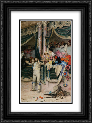 The Bullfighters Adoring Crowd 18x24 Black or Gold Ornate Framed and Double Matted Art Print by Jehan Georges Vibert