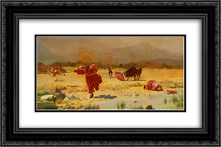 The Church In Danger 24x16 Black or Gold Ornate Framed and Double Matted Art Print by Jehan Georges Vibert